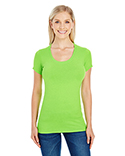 220S Threadfast Apparel Ladies' Spandex Short-Sleeve Scoop Neck T-Shirt