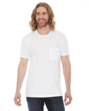 2406W American Apparel Unisex Fine Jersey Pocket Short-Sleeve T-Shirt