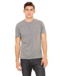 3125 Bella + Canvas Men's Triblend Short-Sleeve Henley