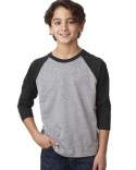 3352 Next Level Youth CVC 3/4-Sleeve Raglan