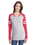 3534 LAT Ladies' Gameday Mash-Up Long Sleeve Fine Jersey T-Shirt