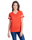 3537 LAT Ladies' Football T-Shirt