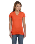 3607 LAT Ladies' Junior Fit V-Neck T-Shirt