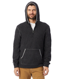 43251RT Alternative Adult Quarter Zip Fleece Hooded Sweatshirt
