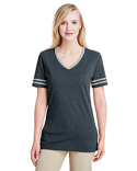602WVR Jerzees Ladies' 4.5 oz. TRI-BLEND Varsity V-Neck T-Shirt
