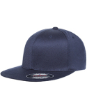 6297F Flexfit Adult Wooly Twill Pro Baseball On-Field Shape Cap with Flat Bill
