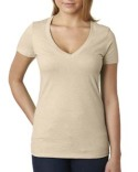 6640 Next Level Ladies' CVC Deep V-Neck T-Shirt