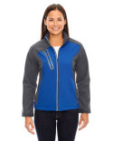 78176 North End Ladies' Terrain Colorblock Soft Shell with Embossed Print
