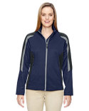 78201 North End Ladies' Strike Colorblock Fleece Jacket