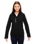 78665 North End Ladies' Axis Soft Shell Jacket with Print Graphic Accents