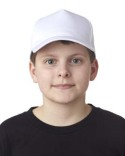 8120Y UltraClub Youth Classic Cut Cotton Twill 5-Panel Cap