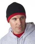 8132 UltraClub Adult Two-Tone Knit Beanie