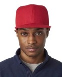 8160 UltraClub Adult Flat Bill Cap