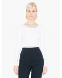 8379W American Apparel Ladies' Cotton Spandex Long Sleeve Crop Top