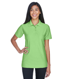 8413L UltraClub Ladies' Cool & Dry Elite Tonal Stripe Performance Polo