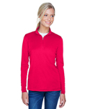 8424L UltraClub Ladies' Cool & Dry Sport Performance Interlock Quarter-Zip Pullover