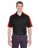 8447 UltraClub Adult Cool & Dry Stain-Release Two-Tone Performance Polo