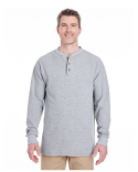 8456 UltraClub Adult Mini Thermal Henley