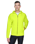 8463 UltraClub Adult Rugged Wear Thermal-Lined Full-Zip Hooded Fleece