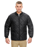 8467 UltraClub Adult Puffy Workwear Jacket with Quilted Lining