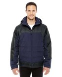 88232 North End Men's Excursion Meridian Insulated Jacket with Mélange Print