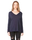 8855 Bella + Canvas Ladies' Flowy Long-Sleeve V-Neck