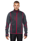 88681 North End Men's Pulse Textured Bonded Fleece Jacket with Print