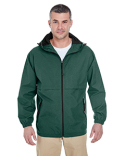 8908 UltraClub Adult Microfiber Full-Zip Hooded Jacket