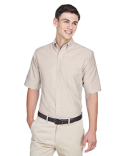 8972 UltraClub Men's Men's Classic Wrinkle-Resistant Short-Sleeve Oxford