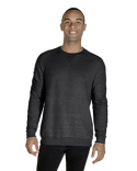 91MR Jerzees Adult 7.2 oz., Snow Heather French Terry Crewneck Sweatshirt