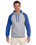 96CR Jerzees Adult 8 oz. NuBlend® Colorblock Raglan Pullover Hood