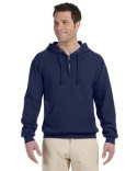 994MR Jerzees Adult 8 oz. NuBlend® Fleece Quarter-Zip Pullover Hood