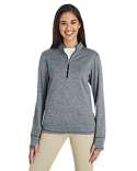 A285 adidas Golf Ladies' 3-Stripes Heather Quarter-Zip