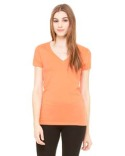 B6035 Bella + Canvas Ladies' Jersey Short-Sleeve Deep V-Neck T-Shirt