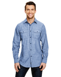 B8255 Burnside Mens Chambray Woven Shirt