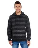 B8603 Burnside Men's Printed Stripe Marl Pullover