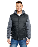 B8701 Burnside Adult Fleece Sleeved Puffer Vest