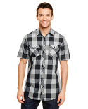 B9203 Burnside Mens Buffalo Plaid Woven Shirt