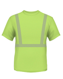 BA3730 Bayside 4.5 oz., Polyester Performance Hi-Visibility Segmented Striping T-Shirt