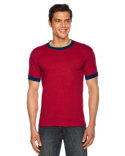 BB410 American Apparel Unisex Poly-Cotton Short-Sleeve Ringer T-Shirt