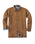 BP7006 Backpacker Men's Canvas Shirt Jacket with Flannel Lining