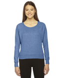 BR394W American Apparel Ladies' Triblend Lightweight Raglan Pullover