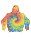 CD8888 Tie-Dye Adult Tie-Dyed Full-Zip Hooded Sweatshirt