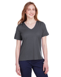 DG20WB Devon & Jones Ladies' CrownLux Performance™ Plaited Rolled-Sleeve Top
