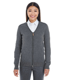 DG478W Devon & Jones Ladies' Manchester Fully-Fashioned Full-Zip Cardigan Sweater