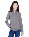 DG798W Devon & Jones Ladies' Newbury Mélange Fleece Quarter-Zip