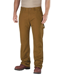DU217 Dickies Men's Relaxed Straight-Fit Flannel-Lined Carpenter Duck Jean Pant