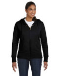 EC4501 econscious Ladies' 9 oz. Organic/Recycled Full-Zip Hood