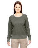 EC4505 econscious Ladies' 7 oz. Organic/Recycled Heathered Fleece Raglan Pullover