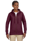 EC4580 econscious Ladies' 7 oz. Organic/Recycled Heathered Fleece Full-Zip Hood